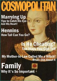 Elizabeth Woodville Cosmo, seen on Susan Higginbotham's blog. After marrying the king of England for love she was hated for her family becoming too powerful. Her sons were the famous princes in the tower