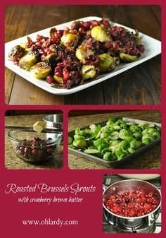 Brussels Sprouts with Cranberry Brown Butter