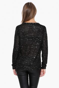 Sparkle N Shine Sweater in Black   Necessary Clothing