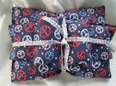 Peace Sign lavender pillow eye mask and sachet set by greenlioness, $18.00
