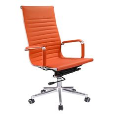 Highback Modern Office Chair Ergonomic Desk Chair Color Opt – Homes Office Chairs For Sale, Rolling Office Chair, Modern Office Desk, High Back Office Chair, Office Table, Rolling Chair, Stylish Office, Executive Office Chairs, Ergonomic Office Chair