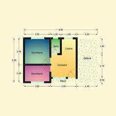 Planos de 2 Dormitorios – Constructora Sol del Plata Bungalows, Autocad, Bar Chart, Ideas, Home Made Simple, Sun, Manufactured Housing, Galaxy Art, Spiral Staircases
