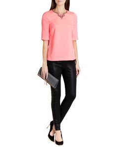 Embellished top - Coral | Tops & Tees | Ted Baker