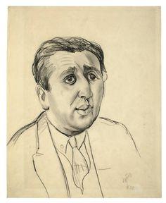 Otto Dix  Gera-Untermhaus 1891 – 1969 Singen    PORTRAIT J.B. NEUMANN  1922. Pencil on heavy paper. 51 x 41,1 cm (20 ⅛ x 16 ⅛ in.)