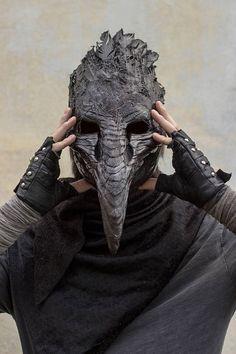 Muerte negra máscara de cuervo