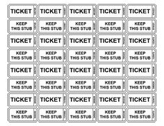 1000+ images about Raffle Ticket Templates & Ideas on Pinterest ... free printable raffle tickets | Free Printable Raffle Ticket Templates – Blank Downloadable PDFs