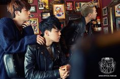 Jin, Jimin and Rap Monster - BTS