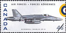 Canadian Postal Archives Database Postal Administration: Canada Title: McDonnell Douglas CF-18 Denomination: 46¢ Date of Issue: 4 September 1999