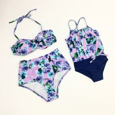 Lilac rose swimsuits  (Mommy and Me tankini)