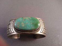 Vintage CALVIN MARTINEZ Turquoise and Sterling Bracelet 83 gms!!