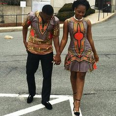 African/dashiki couple outfit