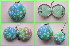 This macaron shaped jewelry pouch is all sewed by me. It has two pockets inside and you can store your jewelries like rings, necklaces, earrings or something small. <size> -2 (5cm) in diameter  -1.2 (3cm) high    <fabric> -mini sakura --- Rayon Crepe 100%  -polka dots --- Cotton 100%    I have more Macaron Jewelry Pouches on my shop. https://www.etsy.com/shop/Chikaberry?section_id=13522910    Also, if you are looking for a little bit smaller one (3.5cm in diameter)…