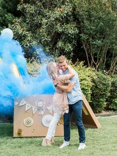 Smoke Bomb and Balloon Gender Reveal Party | The Cake by Hannah