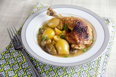 Lemon Chicken with Olives and Potatoes - Healthy. Delicious.
