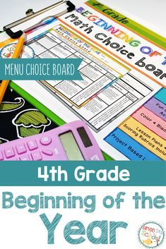 Students can review key math skills and common core standards while using these 4th grade, Beginning of the year, math choice boards. Through choice and differentiation, students will practice math concepts like geometry, measurement, operations and algebraic thinking, and fractions. #iteach4th #4thgrademath #ccss #mathclassroom