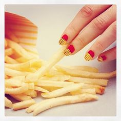 The 43 Most Amazing Manicures On Instagram Just think these are cute.  Not planning on this look...