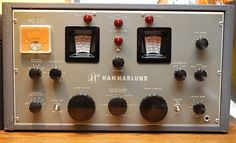 The Hammarlund HQ-150 receiver. I use one of these to listen to stations from all over the world.