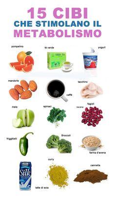 15 cibi che stimolano il metabolismo