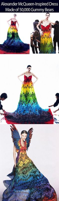 Alexander McQueen gown made of gummy bears...so crazy!