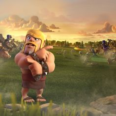I think that the barbarian is confused😂 Clash Royale, Clsh Of Clans, Game Coc, Barbarian King, Costa Rica, Boom Beach, Clash Of Clans Gems, Video Game Art, How Train Your Dragon
