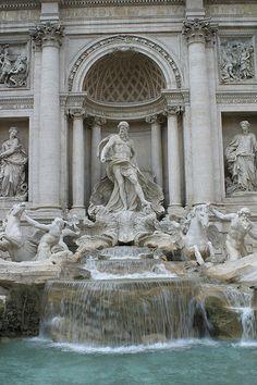 Trevi Fountain, threw the coins so I'd return