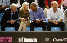 The famous friends reunited in Toronto to watch a wheelchair basketball game alongside Biden's wife Dr. Jill Biden.