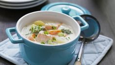 Whip up a comforting fish stew with a rich and savoury broth including great nutritional content from the salmon and vegetables Frozen Vegetables, Chicken Udon Soup, Beef Tagine, Fish Stew, Western Food, Laksa, Beef And Noodles