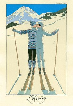 too bad the woman is a skier. she should be a snowboarder