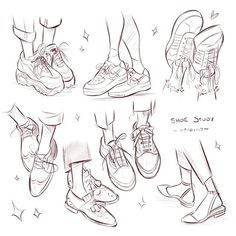 Little shoe study from last night 👟 I get impatient drawing detailed shoes s. - Little shoe study from last night 👟 I get impatient drawing detailed shoes so it's something I need to get better at haha Side note – I… Source by - Body Reference Drawing, Art Reference Poses, Art Drawings Sketches, Cute Drawings, Shoe Sketches, Arte Sketchbook, Drawing Clothes, Shoe Drawing, Drawing Heels