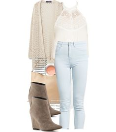 A fashion look from July 2016 featuring cotton cable cardigan, Forever 21 and wedge heel ankle booties. Browse and shop related looks. Fashion Tv, Fashion Looks, Womens Fashion, Teenager Outfits, College Outfits, Lucas Scott, Cable Cardigan, Brooke Davis, Lydia Martin