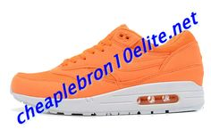 Bright Orange Nike Air Max 1 87 Mens White 308866 808 Yellow Nikes, Black Nikes, Air Max Sneakers, Sneakers Nike, Nike Air Max Mens, Blue Nike, Air Max 1, Shoe Sale, Electric
