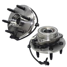 Detroit Axle- Both Front Driver & Passenger Side Wheel Hub and Bearing Assemblies for 4x4 Models Only, [6-Lug Wheel - 3-Bolt Flange] - Detroit Axle Wheel Hub Bearing Assembly, This is a Brand New Hub Bearing. We are one of the largest sellers of Hub Bearings online. This includes A New Wheel Hub Bearing Assembly, A One Year Warranty.