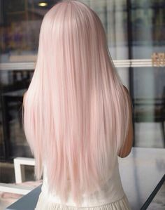 This shade is gorgeous, but I keep expecting the owner of this fabulous hair to turn around and turn out to be Nicki Minaj. Look at it. Now imagine the girl turning around and wrapping anaconda to you.