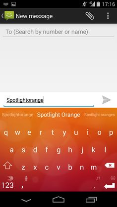 Spotlight Orange - beautiful for the hues of Fall! Find it on the SwiftKey Store, available on Android.
