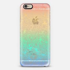 Use code 6SP8GR to get $10 off your first order! GEOMETRIC RAINBOW DOODLE - TRANSPARENT Phone Case   iPhone 6   Casetify   Graphics   Painting   Transparent    Micklyn Le Feuvre