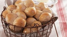 Serve your family with these tasty wheat yeast rolls that are flavored with honey.