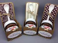 Demonstrator business web site (DBWS) for Stampin' Up! products, project ideas, and current promotions. Order Stampin' Up! Nutella Gifts, Chocolate Gifts, Christmas Gifts For Friends, Christmas Gift Box, Cool Gifts, Diy Gifts, Wedding Favors, Wedding Gifts, Candy Crafts