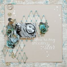My Shooting Star... - Scrapbook.com - Made with Prima products.