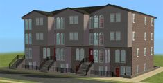 MDPthatsme, Row Apartments 12 vacant apartments. Completely... Sims 2, The Row, Multi Story Building, Apartments, Penthouses, Flats