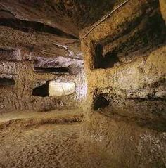 The Roman catacombs of San Sebastiano, Italy.  http://historyoftheancientworld.com/2010/09/when-and-by-whom-was-the-basilica-apostolorum-built/  #catacombs #Roman