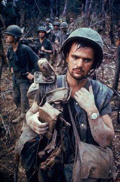 American Marines, Operation Prairie, near the DMZ during the Vietnam War, October 1966