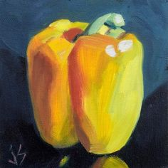 """Daily Paintworks - """"Yellow Pepper Refined"""" by Johnna Schelling"""