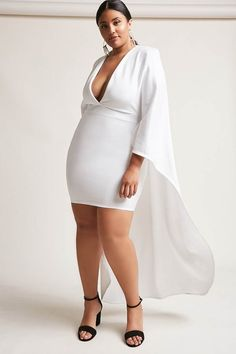 0b712fe515c FOREVER 21+ Plus Size Scuba-Knit Cape Dress - affiliate Robes Grandes  Tailles