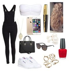 """""""My clothing"""" by nawel-massot ❤ liked on Polyvore featuring Reebok, H&M, Cheap Monday, Forever 21, L'Oréal Paris, OPI, Candie's and Marc Jacobs"""