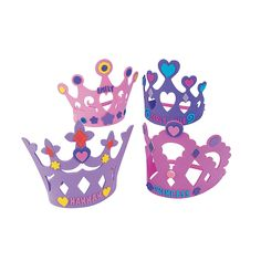 Fabulous Foam Princess Crowns, Hats & Masks, Crafts for Kids, Craft & Hobby Supplies - Oriental Trading Beach Party Games, Tween Party Games, Dinner Party Games, Sleepover Party, Superhero Party, Pirate Party, Princess Party Supplies, Princess Party Games, Princess Tea Party