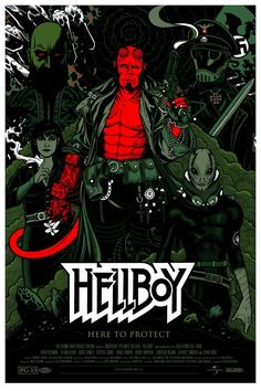 Hellboy (2004) (Guillermo Del Toro) Give me a graphic novel!