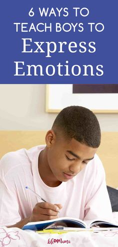 Unfortunately, society teaches boys that they have to be strong and stoic. But it's important they know it's okay to show emotions. Here are some things moms can do to help boys express emotions freely and honestly. | #lifeasmama #boymom #emotions