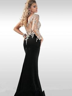 2013 New Magic One Shoulder Long Sleeve Prom Dresses Crystal ...
