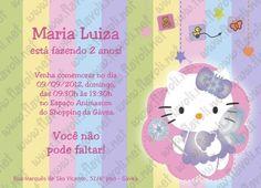 Convite Hello Kitty  :: flavoli.net - Papelaria Personalizada :: Contato: (21) 98-836-0113 vendas@flavoli.net