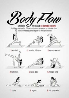 Easy Yoga Workout - www. Get your sexiest body ever without,crunches,cardio,or ever setting foot in a gym Easy Workouts, At Home Workouts, Hata Yoga, Darebee, Yoga Poses For Beginners, Morning Yoga, Yoga Routine, Stretch Routine, Yoga Sequences